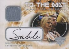 SABLE 2004 Fleer To The Mat WWE AUTOGRAPH AUTO CARD & EVENT USED MAT # 49/50