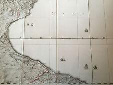 Carte Naples Napoli Fin 18 ème début 19 ème Italie 78 cm * 54 cm Numéro 12