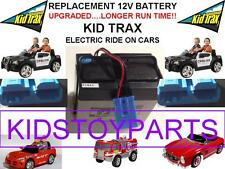 NEW! LONG LASTING UPGRADED KID TRAX 12 VOLT 15AH RECHARGEABLE  BATTERY BLUE PLUG