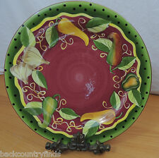 Gates Ware Vegetables Black Dots Green Rim by Laurie Gates Red Dinner Plate