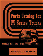 Studebaker Pickup Truck Parts Book 1941 1942-1946 1947 1948 M5 M15 M15A M16 M17
