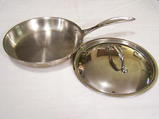 "Member's Mark Tri-Ply Stainless Steel 9.5"" Fry Pan with Lid 2000 Series"