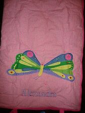 "POTTERY BARN KIDS~ERIC CARLE  BUTTERFLY~MONOGRAM ""ALEXANDRA"" SLEEPING BAG~NEW"