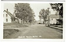 Monson ME Main Street General Store Dirt Road RPPC Real Photo Postcard