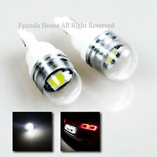 2X JDM DURABLE 7000K SUPER WHITE LED SMD T10 194 168 W5W GLASS BULBS REPLACEMENT