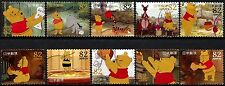 JAPAN 2014 DISNEY CHARACTERS WINNIE THE POON 80 YEN COMP SET 10 STAMPS FINE USED