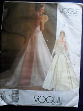 Vogue Bridal Original  Pattern 2849  Princesses Seam  Wedding  Dress (cut) Sz 14