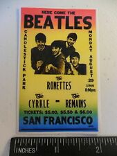 "3.25"" The Beatles Concert Poster STICKER. Great for your glass bong or pipe:)"