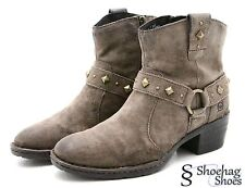 Born Womens Fashion Ankle Boots Size 6.5 M Brown Leather Taupe EUC