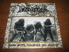 "INSULTER ""Blood Spits, Violences and Insults"" LP  sarcofago sextrash holocausto"