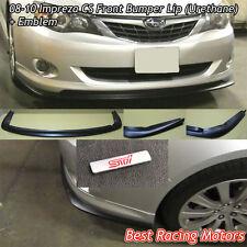 08-10 Impreza CS Front Bumper Lip + Aluminum STi Emblem