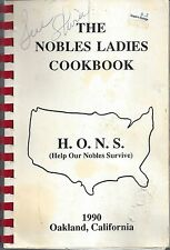 *OAKLAND CA 1990 THE NOBLES LADIES COOK BOOK H.O.N.S. *CALIFORNIA RECIPES ETHNIC