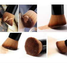 Flat Wooden Liquid Powder Foundation Contour Blush Face Cosmetic Makeup Brushes
