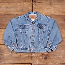 Womens Vintage Levis Red Tab Denim Trucker Jacket Stonewash Blue M 12/14 R5408