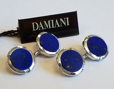 Damiani Lapis Lazuli 18k White Gold Men's Cufflinks
