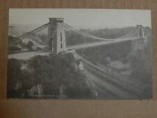 Postcard  Bristol Clifton Suspension Bridge Palatine pictorial company unpost B2
