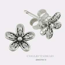 Authentic Pandora Sterling Silver Dazzling Daisy CZ Stud Earrings 290570CZ