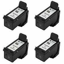 4x HP 96 Black C8767W Remanufactured Ink Cartridges 28% More Photosmart 2610