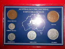 1952 AUSTRALIAN Pre Decimal 6 coin set IN SPECIAL CARD (very Nice)A SPECIAL GIFT