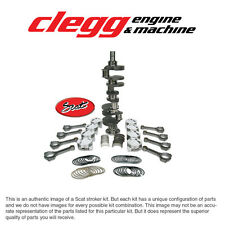 CHEVY 350-383 SCAT STROKER KIT, 1PC RS, Forged(Dish)Pist., I-Beam Rods