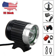 9000LM 3x CREE XML T6 LED Front Bicycle Headlight Light Headlamp Lamp 6400mAh CH