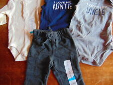 11) Lot of 4 pieces Size 3  Months Cute Baby Boy Clothing New Jumping Beans