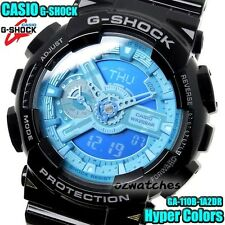 CASIO G-SHOCK MENS WATCH GA-110B-1A2 FREE EXPRESS BLACK/BLUE GA-110B-1A2DR