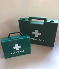 1-5 PERSON HSE FIRST AID KIT IN SMALL GREEN BOX  - 27 ITEMS -TRAVEL, LONE WORKER