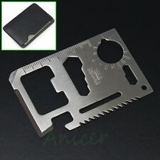 lot of 10 PCS Multi-function Camping Survival Pocket Card Tool 11 in 1 Saw Knife