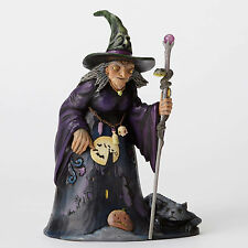 Jim Shore Halloween Witch w/Haunted House Scene Fig ~ Be Very Afraid ~ 4053863