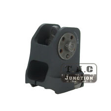 Tactical Aluminum Fixed Rail Rear Sight Back Up Picatinny Rail Iron Sight BUIS