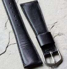 Very supple French Calf Leather 22mm vintage watch band 1950/60s 16mm buckle end