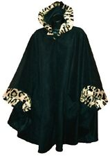 Women's One Size Fits Most Spotted Animal Trim Cape by Black Mountain nwt