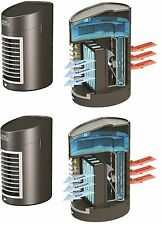 PAIR OF PORTABLE EVAPORATIVE 2 SPEED  AIR CONDITIONER UNIT COOLER COLD WATER