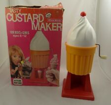 COLECO TASTY CUSTARD MAKER ~ Manual Crank Ice Cream Machine ~Shari Lewis Kitchen