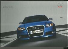 AUDI RS 4 FULL SALES BROCHURE MARCH 2005