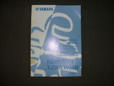 2000 Yamaha YZ80(M)/LC, YZ80LW(M) - Factory Service Manual