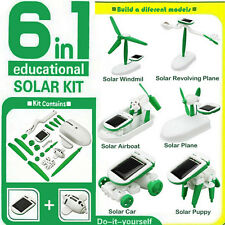 6 in 1 Creative DIY Educational Learning Power Solar Robot Kit Children Toy XMAS