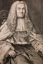 Sr THOMAS REEVE,Honorable Chief Justice UK, gravure XVIII Portrait, Justice