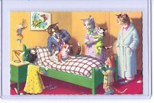 ALFRED MAINZER ANTHROPOMORPHIC DRESSED CATS DR HOUSECALL POSTCARD #4913 NEW YORK