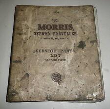 Classic Car Morris Oxford Traveller Workshop Repair Manual Book  Service Parts