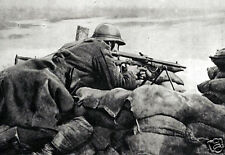 "Belgian Machine Gunner Guarding a Trench 1918 World War 1, 6x4"" reprint photo"