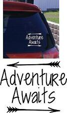 AVENTURE VOUS ATTEND Voiture Autocollant Pare-choc vinyle camping Car voyage