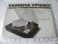Yamaha YP 450 Owner's Manual  Operating Instructions Istruzioni   New