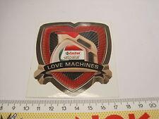 Aufkleber Sticker castrol love machines edge