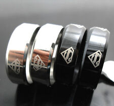 20 wholesale  Stainless steel superman rings Wedding School  jewelry lots