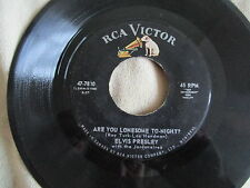 """Elvis Presley Are You Lonesome To-Night 7"""" Single Canada RCA Victor  47-7810"""
