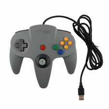 New GREY N64 NINTENDO 64 GAMES CLASSIC GAMEPAD CONTROLLERS FOR USB TO PC/MAC