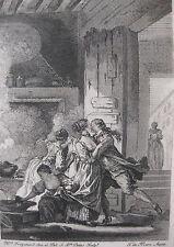 1881 Eau-Forte illustration contes La Fontaine sur Hollande Fragonard T. de Mare