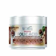 Day and Night Cream for Mature Skin with Folic Acid - UVA/ UVB Filters Age 60+